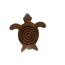 Exclusive Handmade Wooden Tortoise Shape Labyrinth Game by Artisan