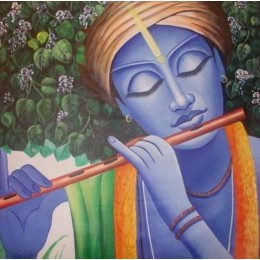 Exclusive Krishna on Flute Wall Hanging by Differently Abled Artist