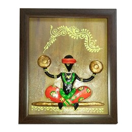 Handmade New Tribal Art Wall Hanging Painting With Frame  by India Meets India