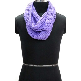 Stylish Purple Hand Knit Woollen Neck Warmer By Rural Artisans