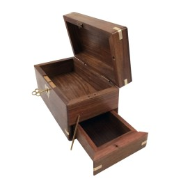 Handmade Multicolor Jewelry Box Wooden Lock system by awarded artisans.