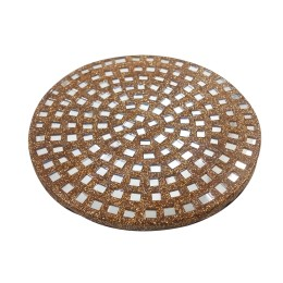 Handmade Golden Wooden coaster set of 4 With Mirror Work   by awarded artisans.