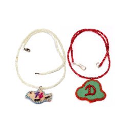 Trendy Handcrafted Silver & Red Beads Pendants Combo by Marginalized Women